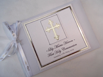 First Holy Communion White & Gold Guest book